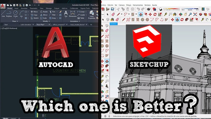Autocad Vs Sketchup Which Is Better Inspirationtuts